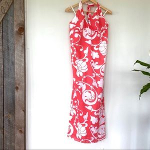 Old Navy maxi dress with halter top